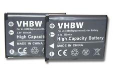 2x BATTERIA 500mAh per Olympus X-920 / X-925 / X-930 / X-935 / X-960