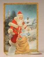 """Nostalgische /""""Schaukel/"""" WEIHNACHTSKARTE  Weihnachten Nikolaus Weihnachtsmann"""