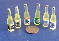 1:12 Scala 6 Assortiti Birra Bottigliette Miniatura Per Casa Delle Bambole