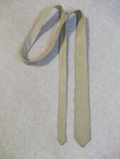 Slim Jim Mod muy Skinny Tie Real Cuero Crema Beige Ancho de extremo 60S 70S 4cm