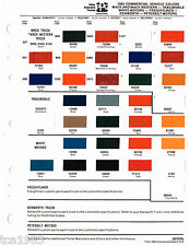 1985 MACK / WHITE / TRAILMOBILE COMMERCIAL TRUCK Color Paint Sample Chart, PPG
