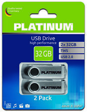 Platinum TWS USB-Stick 32 GB  USB 2.0 2er Pack