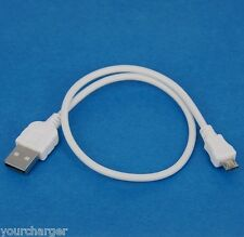 0.5m 50cm Fast Charger ONLY USB Cable WHITE 4 Samsung Galaxy A5 A3 Alpha Mega 2
