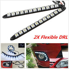 2X High Power 12W Bendable White Waterproof Flexible DRL Daytime Running Light