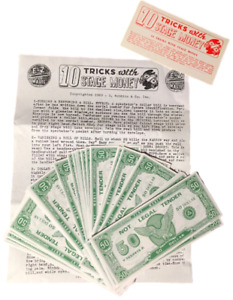 10 TRICKS WITH STAGE MONEY Ten Magic Routines Fake 100 Fifty Dollar Play Bills