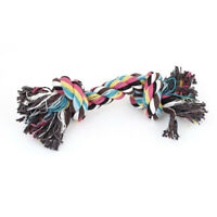 Family Dogs Pets Multicolor Braided Rope Bone Chewing Bone Tug Toy18cm Leng N3Z2