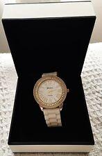 Beautiful Geneva Platinum white and gold womens watch