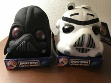Angry Birds Star Wars Darth Vader And Pig Storm Trooper Plush Heads 8""