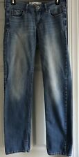"Women's HOLLISTER Embellished Blue Jeans Sz 5 With 33"" Inseam"