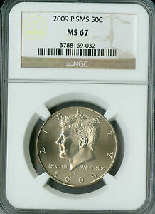 2009-P KENNEDY HALF DOLLAR NGC MS67 SMS  LOW MINTAGE *