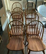 FREDERICK DUCKLOE SOLID CHERRY CHAIRS - SET OF 8 (2 ARM AND 6 REGULAR CHAIRS)