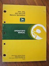 John Deere 350 370 550 570 Manure Spreader Operator's Manual