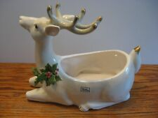 Vintage Collectible Fitz And Floyd Christmas Reindeer Planter