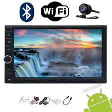 """7"""" Touch Screen 2Din Android 7.1 Car No DVD GPS Navi Player Stereo Free cam&Wifi"""