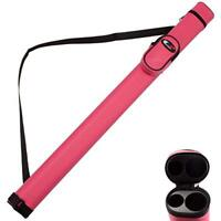 1x1 Deluxe Hard Billiard Pool Cue Stick Carrying Case (Pink)