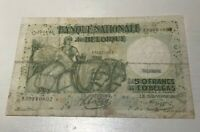 1943 Belgium 50 Francs - World Banknote Currency