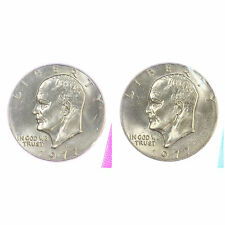 1973-P+D BOTH NEW CHOICE UNCIRCULATED EISENHOWER DOLLAR FROM SEALED MINT SETS