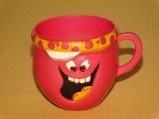 """VINTAGE KITCHEN 1970 PILLSBURY 3"""" HIGH PLASTIC CUP LOUD MOUTH FUNNY FACE"""