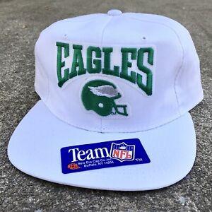 New! VTG 90's New Era NFL Snapback Hat Philadelphia Eagles White Helmet Vintage