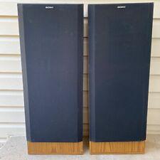 "New listing 2(Pair) Sony Ss-U307 3-Way Floor Standing Speakers 12"" Bass - 200 Watts Each Vtg"