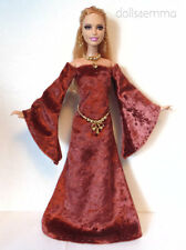 OOAK BARBIE DOLL Clothes Medieval GOWN + BELT + JEWELRY Fashion NO DOLL d4e