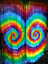 Tie Dye Curtain Panel Rainbow 50x84