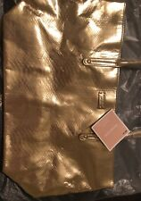 Michael Kors Large Tote Travel Gold Weekender new with tag