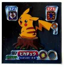 POKEMON STICKER Carte JAPANESE 50X50 2003 SILVER N° 182 PIKACHU
