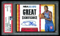 2014 Panini NBA Hoops Joel Embiid Rookie Auto PSA 10 Gem Mint RC #73
