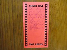 ANITA WOOD  BREWER (Elvis Presley Girlfriend-1957-62)Signed  Red  3 X 5 1/2 Card
