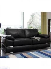 Primo 3-Seater plus 2-Seater Leather Sofa Set Italian Black Grey Brown Red