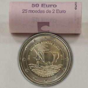 25 x 2 Euro Münze Gedenkmünze Schiff Fernão Mendes Pinto Portugal 2011 in Rolle