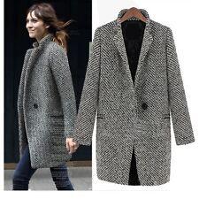 Black and White Classic Lady European Style Boho Womens Jacket Coat Sz 8