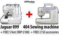 BUNDLE: Jaguar Advanced 099 Overlocker + QE404 (Quilting Edition) Sewing Machine