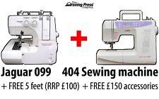 BUNDLE: Jaguar Advanced 099 Overlocker + QE404 (Quilting Edition) Sewing Machine