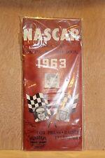 NASCAR HALL OF FAME GLENN FIREBALL ROBERTS OWN PERSONAL 1963 RECORD BOOK W/ COA