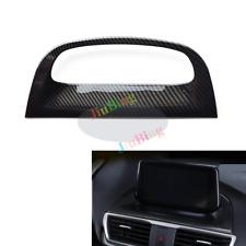 For MAZDA 3 Axela 2017 2018 Carbon Fiber Interior Navigation Frame Cover Trim