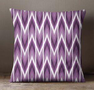 S4Sassy Decorative Violet Cushion Cover Ikat Cushion Case Square Pillow Case