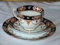 Vintage Royal Albert Crown China Bone China Imari Trio 6355 Hand Painted