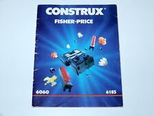 CONSTRUX SPARE INSTRUCTIONS SHEET FOLDOUT 6060 6185 1980s FISHER PRICE