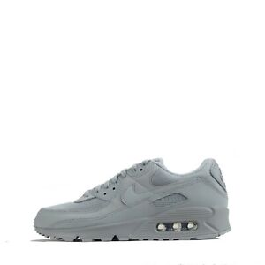 Nike Men's Air Max 90 Trainers Shoes Sneakers, Triple Wolf Grey
