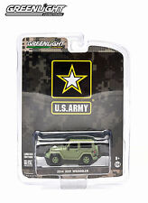 US ARMY GREEN 2014 JEEP WRANGLER GREENLIGHT 1:64 SCALE DIECAST METAL MODEL