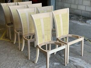 Set Of 8 Wesley Barrell Chairs Unfinished