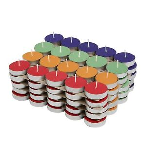 Christmas Diwali Special Wax Tealight Candles (Set of 100, Unscented MultiColor)