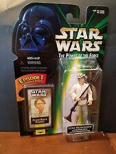 Star Wars Luke Skywalker Action Figure W/ FlashBack Photo 1998 Hasbro Ep 1 POTF