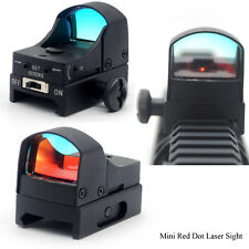 Adjustable Mini Red Dot Scope Laser Sight Weaver Picatinny 20mm w/Sunshade