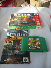 BATTLETANX: GLOBAL ASSAULT Nintendo N64 gAME COMPLETE In Box w/ manual Tested !