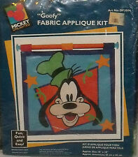 "Disney GOOFY Fabric Applique Kit 18"" X 18"" In Package Wall Hanging Mickey Unltd"