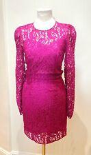 Dolce Gabanna Rasberry Pink Lace Dress IT40