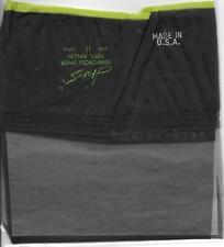Vintage hanes green stripe vintage stockings sz 11 black